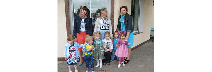 Детишки из Борисовского дома ребенка посетили Воскресенский собор