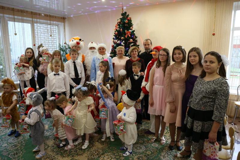 Рождественский утренник в Борисовском специализированном доме ребенка